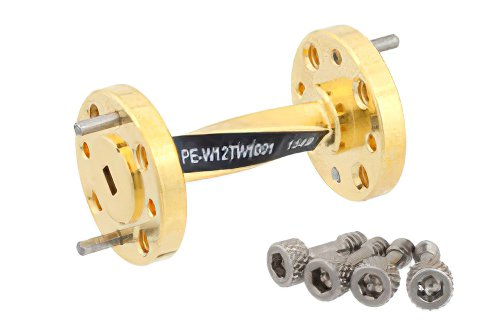 WR-12 90 Degree Waveguide Twist With a UG-387/U Flange Operating From 60 GHz to 90 GHz