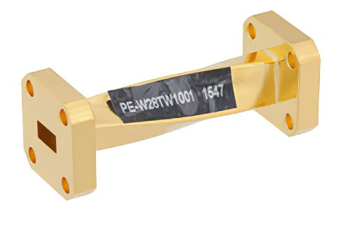 WR-28 90 Degree Waveguide Twist With a UG-599/U Flange Operating From 26.5 GHz to 40 GHz