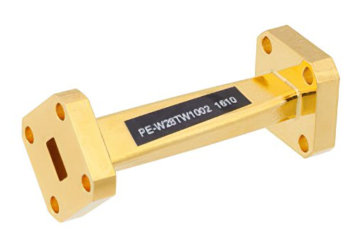 WR-28 45 Degree Left-hand Waveguide Twist With a UG-599/U Flange Operating From 26.5 GHz to 40 GHz