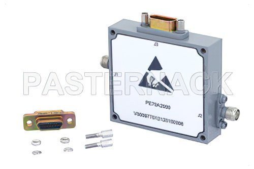 0 to 60 dB Voltage Variable Attenuator, PIN Diode, 2 GHz To 4 GHz, SMA