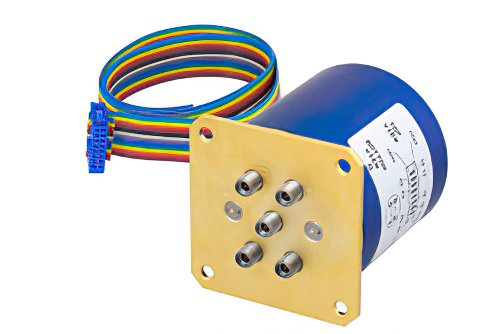 SP4T 0.05 dB Low Insertion Loss Repeatability Relay Latching Switch, Terminated, DC to 40 GHz, 5W, 24V, Indicators, TTL, 2.92mm