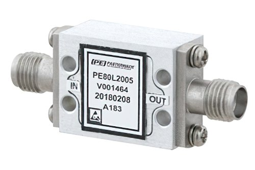 High Power Limiter, Field Replaceable SMA, 100W Peak Power, 15 us Recovery, 18 dBm Flat Leakage, 500 MHz to 18 GHz