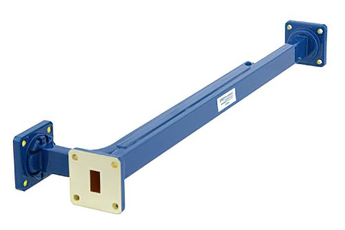 WR-51 30 dB Directional Waveguide Broadwall Coupler, Square Cover Flange, E-Plane Coupled Port, 15 GHz to 22 GHz