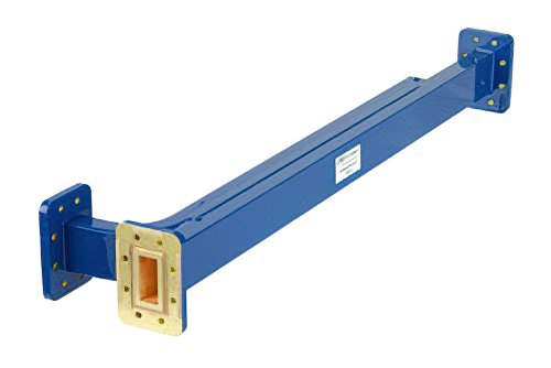 WR-112 20 dB Directional Waveguide Broadwall Coupler, CPR-112G Grooved Flange, E-Plane Coupled Port, 7.05 GHz to 10 GHz