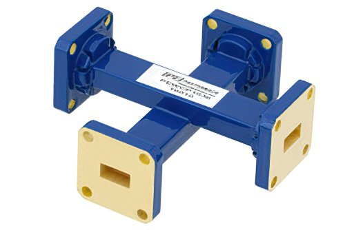 WR-34 30 dB Waveguide Crossguide Coupler, UG-1530/U Square Cover Flange, 22 GHz to 33 GHz