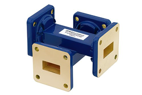 WR-62 30 dB Waveguide Crossguide Coupler, UG-419/U Square Cover Flange, 12.4 GHz to 18 GHz
