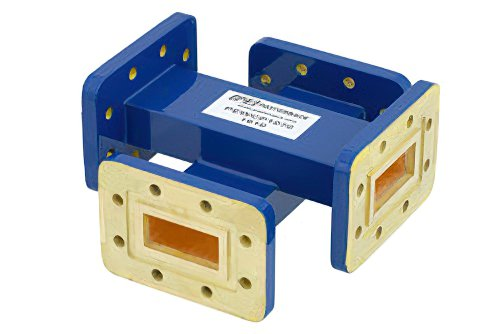WR-112 50 dB Waveguide Crossguide Coupler, CPR-112G Grooved Flange, 7.05 GHz to 10 GHz