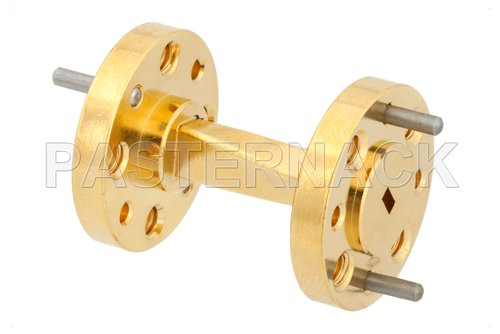WR-10 45 Degree Right-hand Waveguide Twist With a UG-387/U-Mod Flange Operating From 75 GHz to 110 GHz