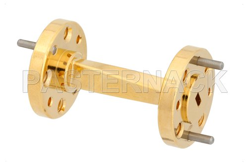 WR-12 45 Degree Right-hand Waveguide Twist With a UG-387/U Flange Operating From 60 GHz to 90 GHz