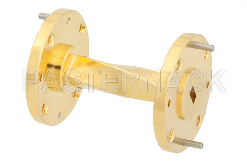 WR-19 90 Degree Waveguide Twist With a UG-383/U-Mod Flange Operating From 40 GHz to 60 GHz