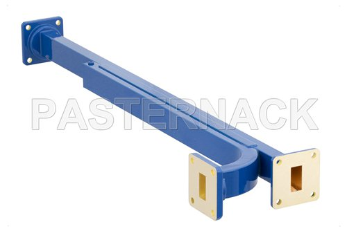 WR-62 30 dB Directional Waveguide Broadwall Coupler, UG-419/U Square Cover Flange, E-Plane Coupled Port, 12.4 GHz to 18 GHz