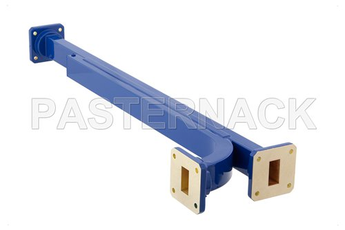 WR-75 10 dB Directional Waveguide Broadwall Coupler, Square Cover Flange, E-Plane Coupled Port, 10 GHz to 15 GHz