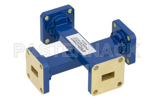 WR-34 40 dB Waveguide Crossguide Coupler, UG-1530/U Square Cover Flange, 22 GHz to 33 GHz