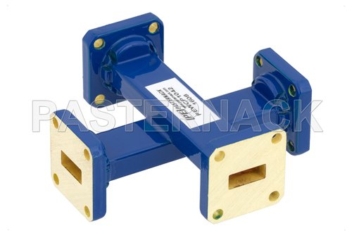 WR-42 50 dB Waveguide Crossguide Coupler, UG-595/U Square Cover Flange, 18 GHz to 26.5 GHz