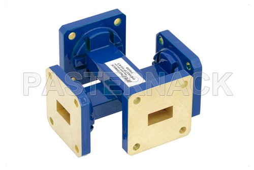 WR-51 20 dB Waveguide Crossguide Coupler, Square Cover Flange, 15 GHz to 22 GHz