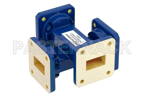 WR-75 30 dB Waveguide Crossguide Coupler, Square Cover Flange, 10 GHz to 15 GHz