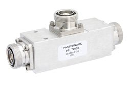 Low Loss 8 dB 7/16 DIN Unequal Tapper Optimized For Mobile Networks From 380 MHz to 6 GHz Rated To 300 Watts