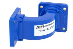 WR-112 Commercial Grade Waveguide E-Bend with UG-51/U Flange Operating from 7.05 GHz to 10 GHz