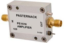 16 dBm P1dB, 100 MHz to 3 GHz, Gain Block Amplifier, 18 dB Gain, 6 dB NF, SMA
