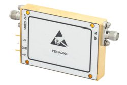 6 GHz to 18 GHz, Log Amplifier, 50 mV/dB Log Slope, 40 dBm Log Range, SMA