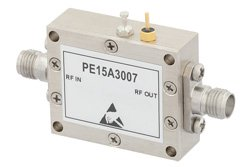 600 mW Psat 100 MHz to 12 GHz Medium Power Broadband Amplifier 18 dB Gain 33 dBm IP3 3 dB NF SMA