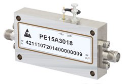 600 mW P1dB 6 GHz to 18 GHz Medium Power Broadband Amplifier 30 dB Gain 3.5 dB NF SMA