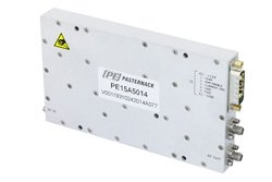50 dB Gain, 20 Watt P1dB, 1.7 GHz to 2 GHz, High Power High Gain Amplifier, 60 dBm IP3, SMA
