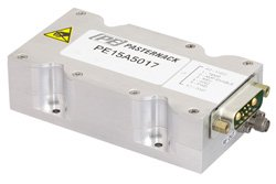 43 dB Gain, 10 Watt Psat, 700 MHz to 6 GHz, High Power High Gain Amplifier, GaN, SMA