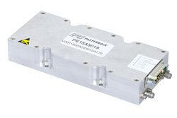 58 dB Gain, 15 Watt Psat, 7.2 GHz to 7.5 GHz, High Power High Gain Amplifier, GaN, SMA