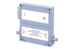 60 dB Gain, 10 Watt Psat, 100 MHz to 6 GHz, High Power High Gain Amplifier, GaN, 10 dB NF, SMA