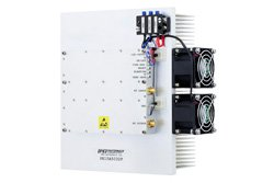 48 dB Gain, 50 Watt Psat, 500 MHz to 3 GHz, High Power High Gain Amplifier, GaN, 52 dBm IP3, SMA