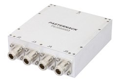 4 Way High Power Broadband Combiner From 20 MHz to 1,000 MHz Rated at 300 Watts, N