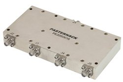 4 Way High Power Broadband Combiner From 2 GHz to 6 GHz Rated at 100 Watts, SMA