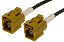Curry FAKRA Jack to FAKRA Jack Cable Using RG174 Coax