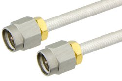 SMA Male to SMA Male Precision Cable Using PE-SR402FL Coax, RoHS