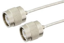 TNC Male to TNC Male Precision Cable Using PE-SR405FL Coax, RoHS