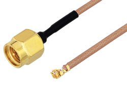 SMA Male to UMCX 2.5 Plug Cable Using RG178-DS Coax, RoHS