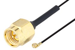 SMA Male to UMCX 2.1 Plug Cable Using 0.81mm Coax, RoHS