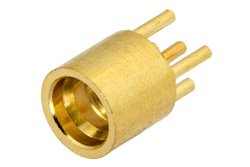 SMP Male Connector Solder Attachment Thru Hole PCB, .100 inch x .031 inch Hole Spacing