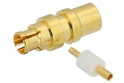 Mini SMP Female Connector Solder Attachment For PE-SR405AL, PE-SR405FL, RG405