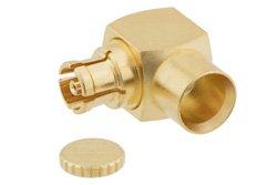 Mini SMP Female Right Angle Connector Solder Attachment For PE-SR405AL, PE-SR405FL, RG405