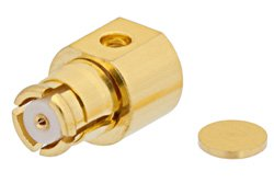 SMP Female Right Angle Connector Solder Attachment For PE-047SR, PE-SR047AL, PE-SR047FL, Up To 8GHz