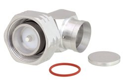 4.3-10 Male Right Angle Low PIM Connector Solder Attachment for PE-1/2SFHC, IP67 Rated