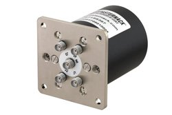 SP4T Electromechanical Relay Latching Switch, Terminated, DC to 26.5 GHz, up to 90W, 28V, SMA