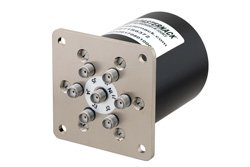 SP6T Electromechanical Relay Latching Switch, DC to 18 GHz, up to 90W, 28V, SMA