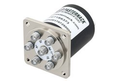 SP6T Electromechanical Relay Normally Open Switch, DC to 18 GHz, up to 90W, 12V,