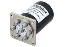 SP6T Electromechanical Relay Normally Open Switch, DC to 18 GHz, up to 90W, 12V, TTL, SMA