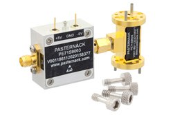 WR-10 PIN Diode SPST Waveguide Switch Operating From 75 GHz to 110 GHz W Band With UG-387/U Flange