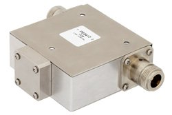 50 Ohm N Isolator Operating From 1.7 GHz to 2.2 GHz And 10 Watts With 18 dB Isolation