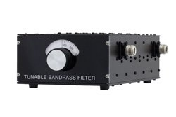 5 Section Tunable Band Pass Filter With N Female Connectors Operating From 500 MHz to 1,000 MHz With a 5% Bandwidth